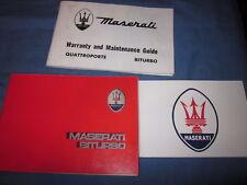 1985 MASERATI BITURBO OWNERS MANUAL OWNER'S BI TURBO 86