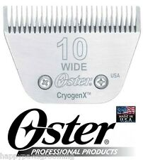 Oster A5 CryogenX 10 WIDE 10W Blade PET Grooming*Fit Andis,Wahl,Laube Clipper
