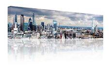 "PANORAMIC 10 ""X 30"" London Skyline Wall Art Canvas Picture stampa libera P & P"