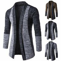 Fashion Men's Knitted Cardigan Long Sleeve Casual Slim Fit Sweater Jacket Coat
