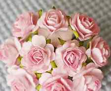 100 Pcs Hight Quality Pink Color #002 Mulberry Paper Flowers of Wedding Roses :