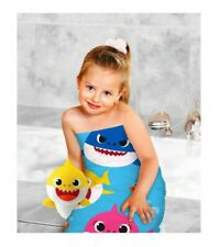 New! 2-pc. Bath Towel and Scrubby Sets  Pink Fong Baby Shark