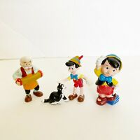 Disney Pinocchio Cleo Applause PVC Figures Set Vintage