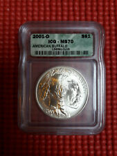 DOLLAR ARGENT AMERICAN BUFFALO 2001 D SLAB MS70