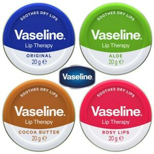 Vaseline Lip Therapy 20g Choose Original, Aloe Vera, Cocoa Butter, Rosy Lips