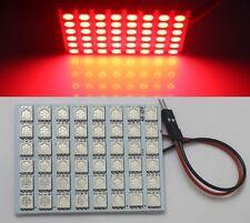 48 LED 5050 SMD Panel Light t10 Festoon Dome Adapter Red Bulb Lamp DC 12V