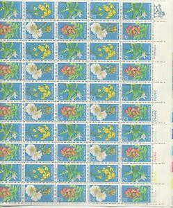 1979 15 cent Endangered Flora Full Sheet of 50 Scott #1783-1786, Mint NH