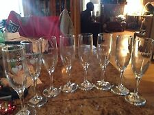 4 Wedding Party Champagne Toasting Flutes Glasses