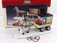 Lemax Village Porcelain Milk Wagon, 1994 Accessory 43121 Missing Deliveryman