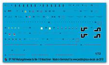 Peddinghaus 1969 1/72 instrucciones de mantenimiento para me 110 máquinas