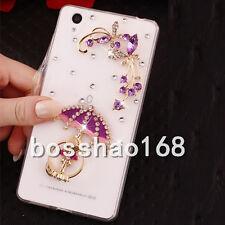 3D Girl's Bling Crown Diamond Rhinestone Ring Clear Soft TPU Phone Case Cover #B