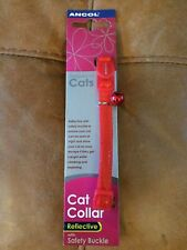 Cat Collar Red Reflective With Bell