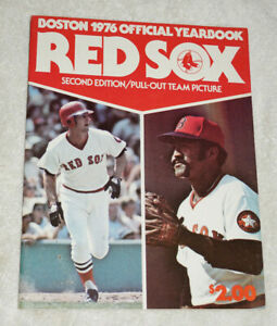Program - Boston Red Sox 1976 Official Yearbook - pull out team picture