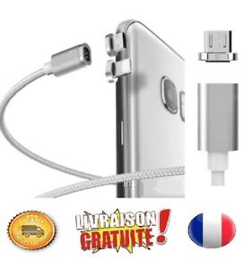 Cable Chargeur Magnétique Original Usb Type C, android micro Usb, ios lighting