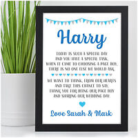 Page Boy Gifts PERSONALISED Usher Ring Bearer Security Wedding Thank You Gifts