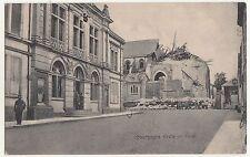 Ak Bourgogne Kirche mit Mainie Soldaten France 1915 IWW !
