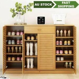 bamboo wooden shoe case shoe rack book case shelf storage classic luxury鞋柜书柜竹制收纳