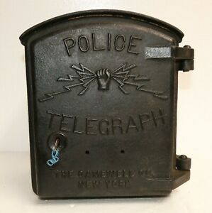 Antique Gamewell Type C Cast Iron Police Telegraph Box
