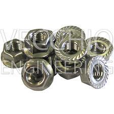 Acero Inoxidable M10 serrado brida NUTS Bmw Mini a prueba de óxido Colector De Escape