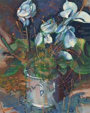 John Cherrington (1931-2015) - 1989 Acrylic, White Flowers