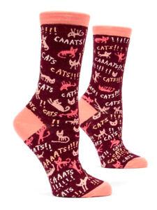 Women's Ankle Socks Blue Q - Cats Funny Novelty