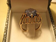 Gold Ring 333  Gelbgold  mit Blautopas Ring Große 18,5