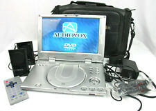 Audiovox Portable DVD Player w Case, Sony Speakers, Remote, Power Adapters D2011