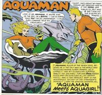 AQUAMAN in a surprise DC comic book lot of 9 different superhero comics