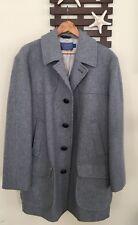 Men's Pendleton Gray peacoat Coat 100% virgin Wool  44 U.S.A MADE