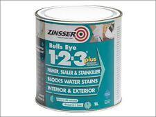 Zinsser - 123 Bulls Eye Plus Primer / Sealer Paint 1 Litre