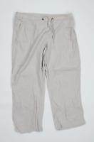 Womens BHS Grey Linen Blend Trousers Size 18/L25