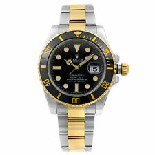 Rolex Submariner Steel 18k Gold Ceramic Bezel Black Dial Automatic Watch 116613