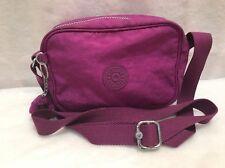 Kipling Purple Canvas Cross Body Messenger Shoulder Bag Purse