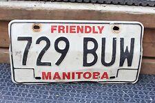 Friendly Manitoba License Plate 729 BUW CAR TRUCK