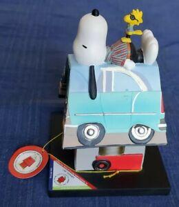 RARE Westland Peanuts Snoopy Car-Tooner Figurine 8639 Figure Dog House