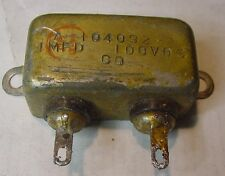 Original WWII Bathtub 1 uFd 100 VDC Metal Case Capacitor used in Aircraft Radios