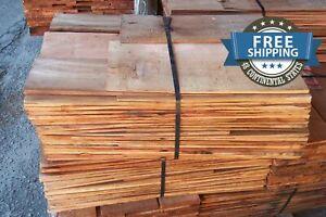 Western Red Cedar Lumber Shingles Clear Vertical Grains Contractors Pack Set New
