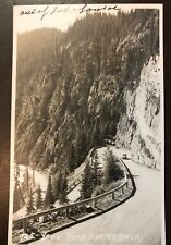 Vintage Postcard Yoho Road Switchback-out Of Lake Louise-Old Car-Canada-RPPC-