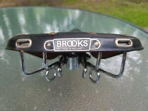 BROOKS B72~Vintage Bicycle Seat Saddle Riveted Spring Suspension Saddle Black ❤