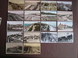 Clackton on Sea - 18 vintage / old postcards - see below