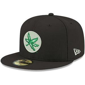 Ohio State Buckeyes New Era Leaf Logo Basic 59FIFTY Fitted Hat - Black