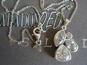 SILPADA RETIRED Sterling Silver 925 Fancy That Cubic Zirconia CZ Necklace N2726