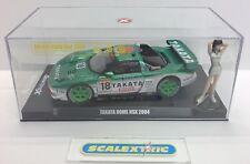 "Scalextric quattrox HONDA NSX ""Takata cupola"" #18 2004 QX04 & Race Queen (Menta)"