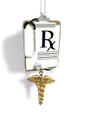 Doctor Clipboard Rx Prescription w Caduceus Ornament by Mw Cannon Falls