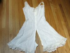 Antique White Cotton Batiste One Piece Romper Pantaloons Lingerie Lovely Lace
