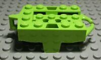 Lego Achterbahn Chassis mit Rädern lime Hellgrün                          (1910)