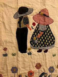 "NEW Handmade Sweet Childhood Throw quilt / Wall hanging 50"" x 60"""