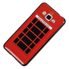 for Samsung Galaxy Grand Prime G530 - Hard Rubber Red England Telephone Booth