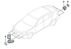 BMW 5-SERIES F07+F10+F11 FRONT PDC PARKING SENSOR BLACK GENUINE NEW 66209270495