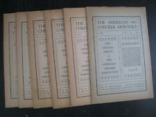The American Checker Monthly : Vol.VIII Nos.1 Thru 12 [1928 Complete] Soft Cover